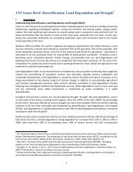 TST Issues Brief: Desertification, Land Degradation and Drought
