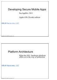 iPhone applications - Secure Application Development