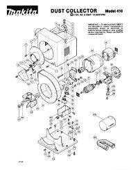 DUST COLLECTOR Model 410 - Makita