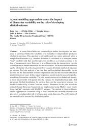 A joint-modeling approach to assess the impact of ... - Springer