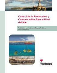 Control de la Producción y Comunicación Bajo el Nivel del Mar
