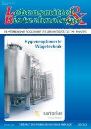 Hygieneoptimierte Wägetechnik - Lebensmittel & Biotechnologie