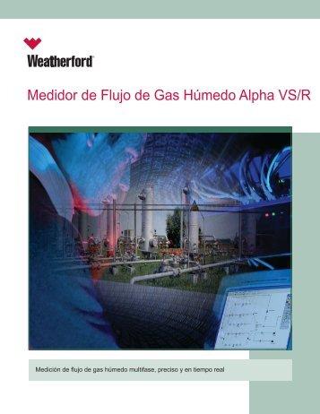 Medidor de Flujo de Gas Húmedo Alpha VS/R