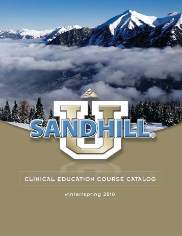 These on-line courses will be available in ... - Sandhill Scientific