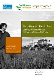 The outlook for EU agriculture: Causes, constraints ... - Copa-Cogeca