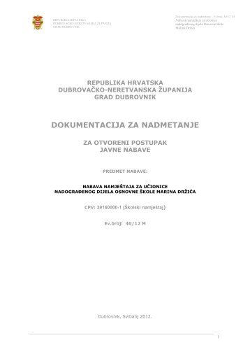 Dokumentacija za nadmetanje 40_12M - Grad Dubrovnik