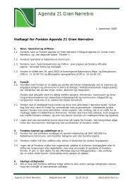 Vedtægter Fonden Agenda 21 Grøn Nørrebro