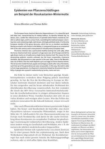 PDF-File (322 KB) - Basler Botanische Gesellschaft - Universität Basel