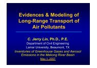 Evidences & Modeling of Long-Range Transport of Air Pollutants