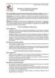 Résolution sur la Déclaration de Bamako - Organisation ...
