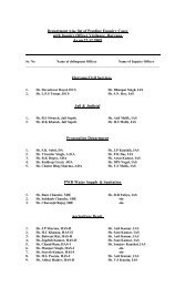 Department wise list of pending Enquiry Cases