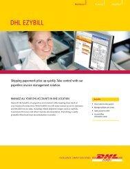 DHL EzyBill Brochure