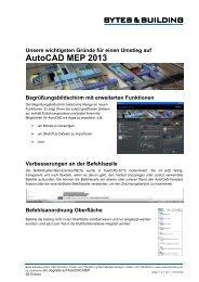 AutoCAD MEP 2013 - Bytes & Building GmbH