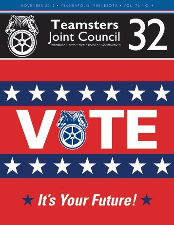 November, 2012 Edition - Teamsters Joint Council 32