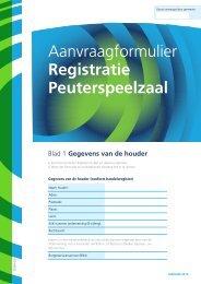 Aanvraagformulier registratie Peuterspeelzaal - Gemeente Katwijk