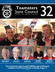 September, 2012 Edition - Teamsters Joint Council 32