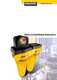 Filters & Centrifugal Separators - Kaeser Kompressoren sro
