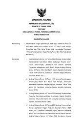Peraturan Walikota Malang Nomor 51 Tahun 2008 tentang Uraian ...