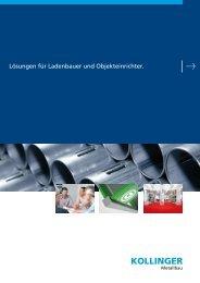 Lösungen für Ladenbauer und Objekteinrichter. - Kollinger Metallbau