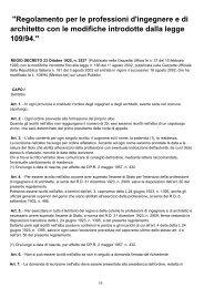 REGIO DECRETO n. 2537 23/10/1925 - Ordine degli Architetti della ...