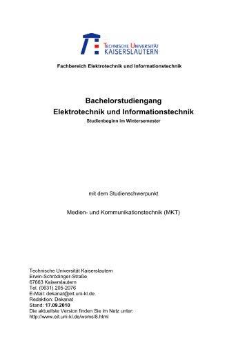 Bachelorstudiengang Elektrotechnik und Informationstechnik - Medien