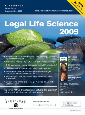 Legal Life Science 2009 - IBC Euroforum