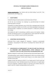 PROTOKOLL FOR ORDINÆR GENERALFORSAMLING ... - Hugin.info