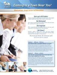 Coming to a Town Near You! - Cruise Lines International Association