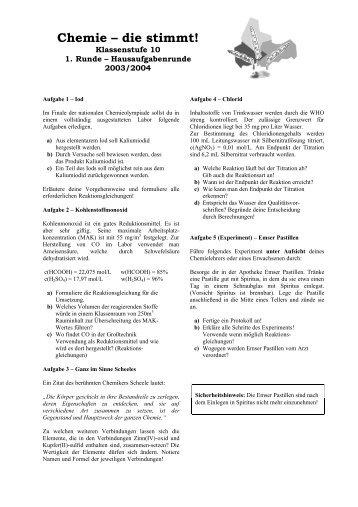 CDS04-1.Runde-10.Klasse-Aufgaben mit Rückseite - Chemie - die ...