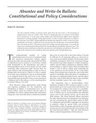 Absentee and Write-In Ballots: Constitutional and Policy ...