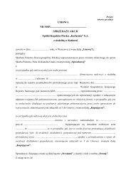 umowa - Kopalnia Piasku Kotlarnia S.A. z siedzibą w Kotlarni