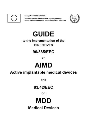 GUIDE AIMD MDD - Cyprus Organization for the Promotion of Quality