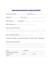 Zápisní list do mateřské školy pro školní rok 2009/2010