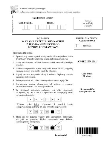 poziom podstawowy - Gazeta Prawna
