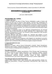 a.a. 2005/2006 - Dipartimento di Tecnologie dell'Architettura e Design