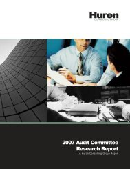 2007 Audit Committee Research Report - Huron Consulting Group