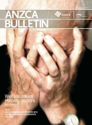 ANZCA Bulletin September 2011 - Australian and New Zealand ...