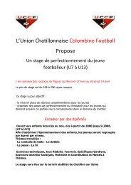 L'Union Chatillonnaise Colombine Football Propose
