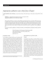 Appropriate palliative care: when does it begin? - Wiley