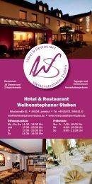 Hotel & Restaurant Weihenstephaner Stuben - Hotel und Restaurant ...
