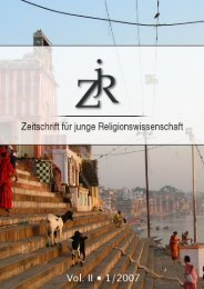 PDF (3,6 MB) - ZjR - Zeitschrift für junge Religionswissenschaft