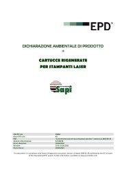 dichiarazione ambientale di prodotto cartucce rigenerate per ...