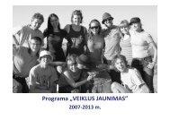 "Programa ""VEIKLUS JAUNIMAS"" - Kultura 2007"