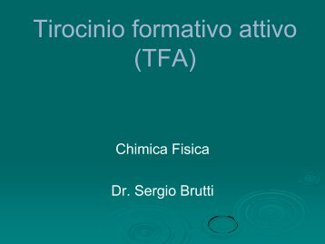 slides lezione 1 - Università degli Studi della Basilicata