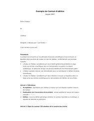 Exemple de Contrat d'édition - Copyright Toolbox
