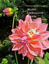 MGOI Annual Report 2012 - Master Gardeners of Ontario