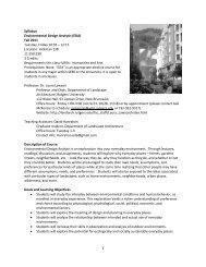 1 Syllabus Environmental Design Analysis (EDA) - Department of ...