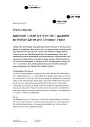 Media Release Art Prize 2013 - Nationale Suisse Group