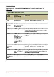 Research Projects List of Completed Research Projects in Wee Kim ...