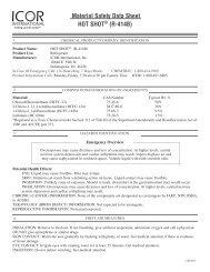 HOT SHOT® (R-414B) - ICOR International